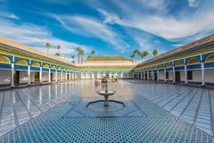 美丽的巴伊亚宫殿在马拉喀什,摩洛哥 图库摄影