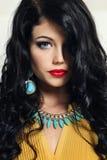 美丽的头发妇女年轻人 图库摄影