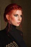美丽的头发的红色妇女 库存照片
