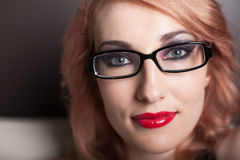 美丽的头发红色妇女 库存照片