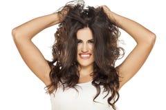 美丽的头发 免版税库存照片