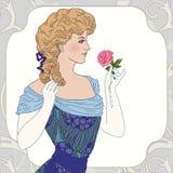 美丽的维多利亚女王时代的夫人 库存图片