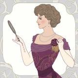 美丽的维多利亚女王时代的夫人 免版税库存照片