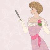美丽的维多利亚女王时代的夫人 免版税库存图片