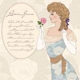 美丽的维多利亚女王时代的夫人 库存照片