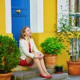 美丽的巴黎妇女年轻人 图库摄影