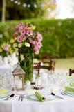 美丽的结婚宴会桌装饰 库存图片