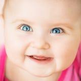 美丽的婴孩特写镜头画象  免版税库存图片