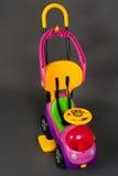 美丽的婴孩现代摇篮车 库存照片