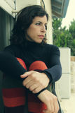美丽的35岁的妇女 免版税图库摄影