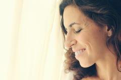 美丽的35岁的妇女 免版税库存照片