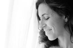 美丽的35岁的妇女 图库摄影