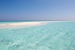 美丽的离开的海滩 免版税图库摄影