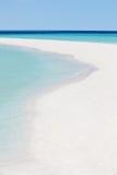 美丽的离开的热带海滩 免版税库存照片