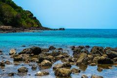美丽的水晶海 免版税库存照片