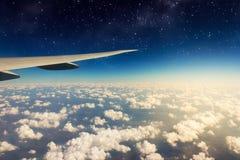 美丽的晴朗的云彩看法  免版税库存图片