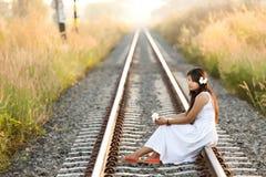 美丽的年轻泰国妇女 库存照片