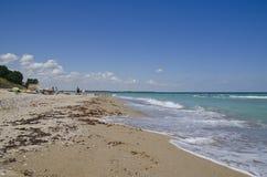 美丽的黑海海滩,沙布拉,保加利亚 免版税库存图片