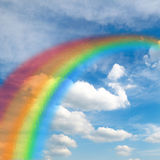 美丽的玻璃彩虹 库存照片