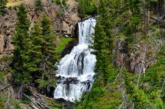 美丽的黄石瀑布 免版税库存图片