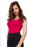 美丽的年轻红发妇女 免版税库存图片