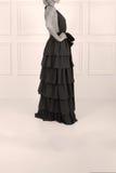 美丽的黑色礼服 免版税库存图片