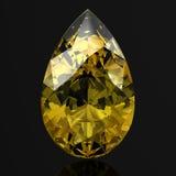 美丽的黄色金刚石 库存例证