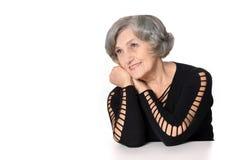 美丽的年长妇女 免版税库存图片