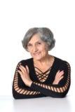 美丽的年长妇女 免版税库存照片
