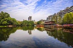 美丽的Autumn湖 免版税库存图片