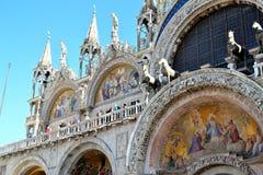 美丽的Basilica di圣Marco在威尼斯 免版税库存图片