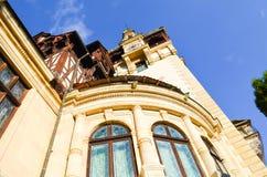 美丽的castel塔和窗口 库存照片