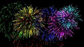 美丽的cg烟花在庆祝天,阿尔法 影视素材