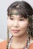美丽的chukchi妇女 免版税库存照片
