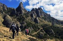 美丽的Ciucas山在罗马尼亚 免版税图库摄影