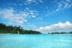 美丽的cloudscape海运 库存图片