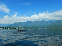 美丽的Dal湖在克什米尔5 免版税库存图片
