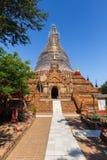 美丽的Dhammayazika塔,著名Bagan的,缅甸 免版税库存照片