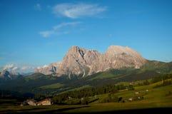 美丽的distinctiv sassolungo在Val加迪纳 免版税库存图片