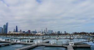 美丽的DuSable港口 库存照片