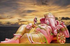 美丽的Ganesh雕象 库存图片