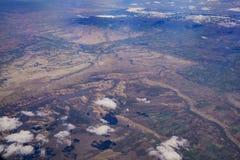 美丽的Gunnison峡谷国民Conservatio的鸟瞰图 免版税库存图片