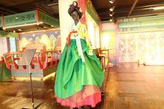 美丽的Hanbok,传统韩国礼服 库存照片