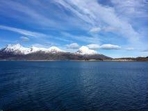 美丽的Helgeland海岸在诺尔兰县,挪威 库存图片