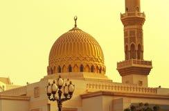 美丽的Jumeirah清真寺迪拜2017年7月21日的阿联酋阿拉伯联合酋长国 库存照片