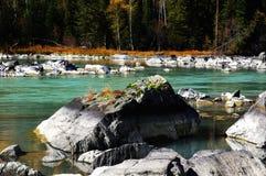 美丽的kanas河 库存照片