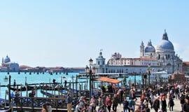 美丽的La大教堂二安康圣母圣殿在威尼斯,意大利 免版税图库摄影