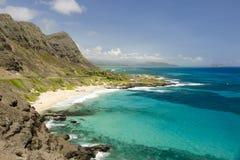美丽的Makapuu海滩 免版税库存图片