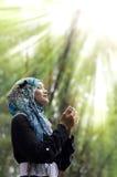 美丽的muslimah年轻人 库存照片
