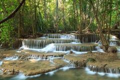 美丽的Muti层数瀑布 库存图片
